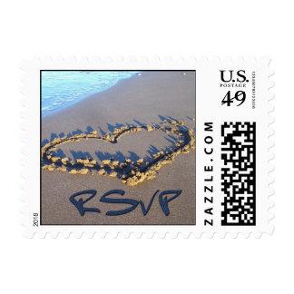 RSVP Heart Postage