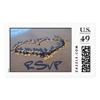RSVP Heart Postage Stamps