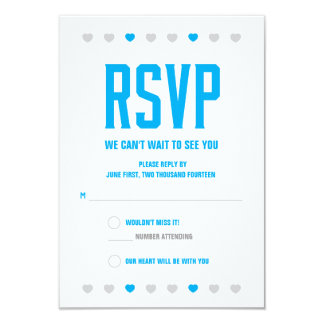 RSVP Hearts Soon to Be Mr. & Mrs. - Customize Card