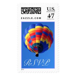 RSVP Hot Air Balloon Postage Stamp