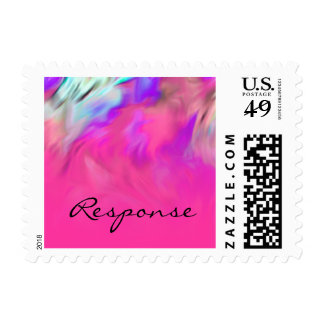 RSVP Hot Pink and Purple Tye Dye Design Postage