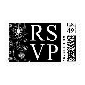 RSVP In Winter Postage Stamp