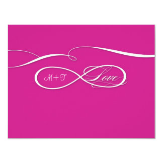 RSVP Infinity Symbol Sign Infinite Love Wedding Personalized Announcement