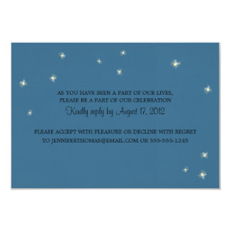 RSVP Information Card Whimsy Fireflies Invite