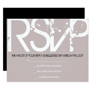 RSVP Initial Collection Bar Bat Mitzvah Invitation