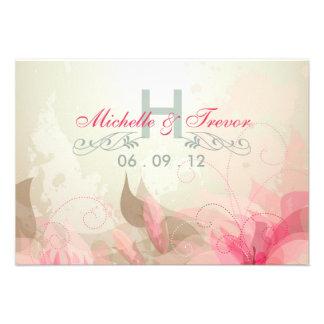 RSVP - invitaciones abstractas florales modernas d Invitacion Personalizada