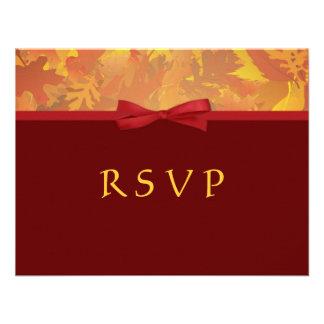 RSVP - invitaciones del boda del otoño Anuncio