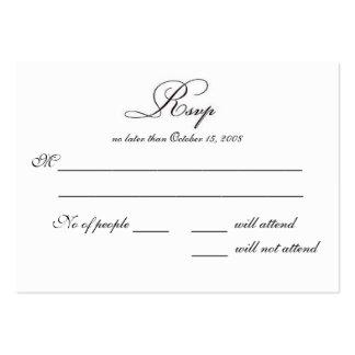 RSVP LARGE BUSINESS CARD
