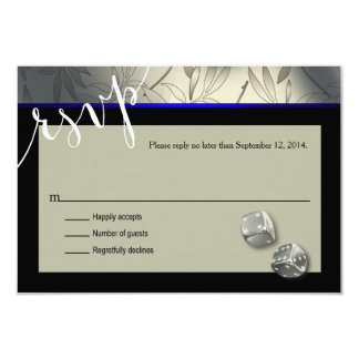 RSVP Las Vegas Art Deco | silver black Card