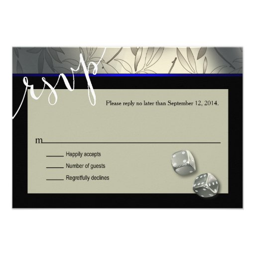 RSVP Las Vegas Art Deco   silver black Personalized Invitation