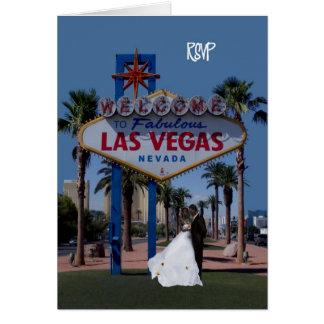 RSVP Las Vegas Wedding Bride & Groom Card