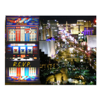 RSVP Las Vegas Wedding Slot Machine Postcard