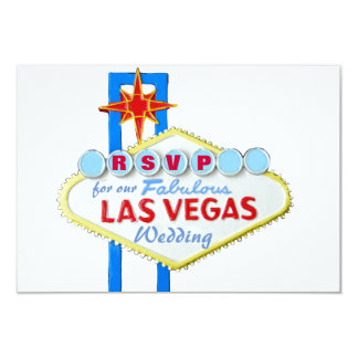 RSVP Las Vegas Weedding Reception Card