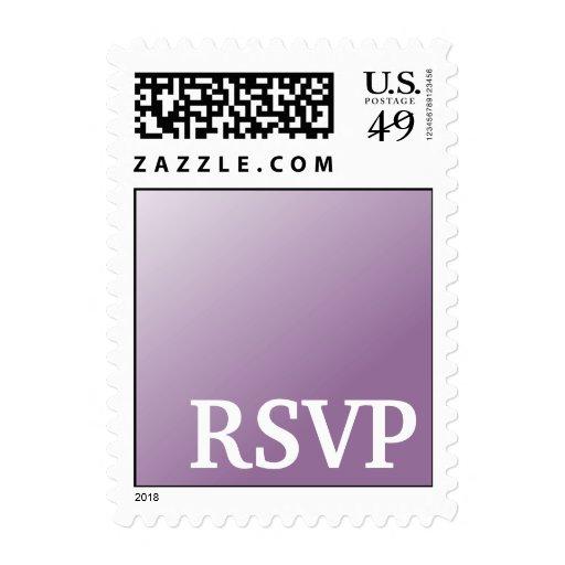 RSVP-lavender BG Postage Stamps