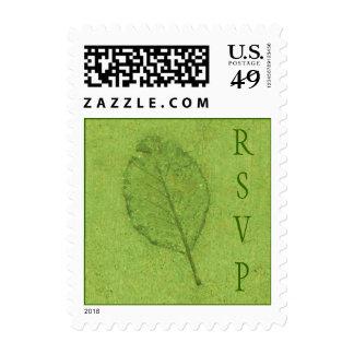 RSVP Leaf Fossil Postage