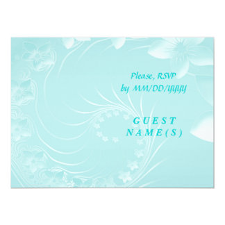 RSVP - Light Blue Abstract Flowers Card