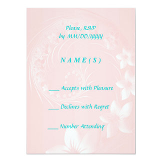 RSVP - Light Pink Abstract Flowers Card