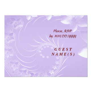 RSVP - Light Violet Abstract Flowers Card
