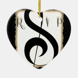 rsvp logo huge.jpg Double-Sided heart ceramic christmas ornament