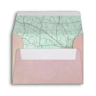 RSVP Map Envelope Pink