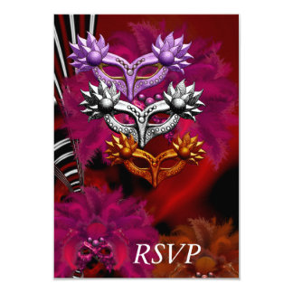 RSVP Masks Masquerade Ball Party Card