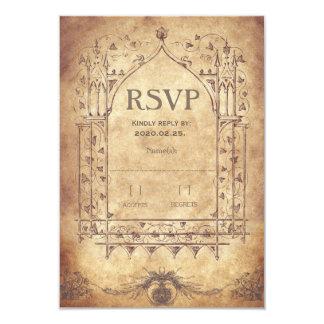 """RSVP medieval Invitación 3.5"""" X 5"""""""