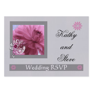 RSVP Mini Card for Email Phone Response Business Card Template