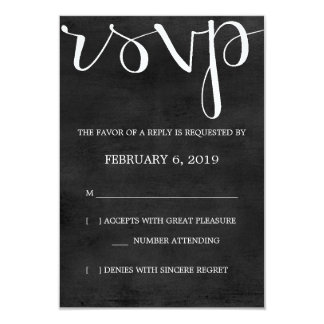RSVP | Mod Pen Chalkboard Card