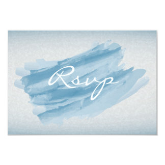 RSVP Modern Blue Watercolor Splash Card