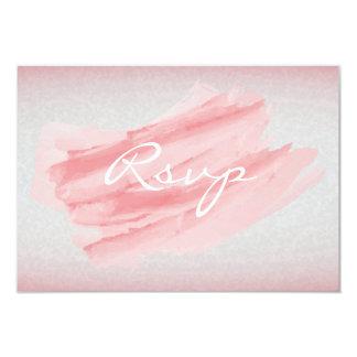 RSVP Modern Coral Watercolor Splash Card