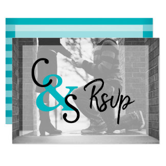 RSVP  Modern Day Love 2 - Turquoise Card