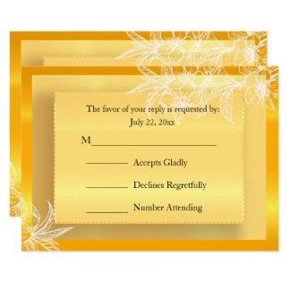 RSVP Modern Marigold Yellow & White Floral Stamp Card