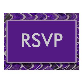 RSVP modern purple Postcard