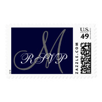 RSVP  Monogram Navy Grey Stamp