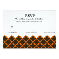 RSVP Moroccan Wedding 5x7 Paper Invitation Card (<em>$2.11</em>)