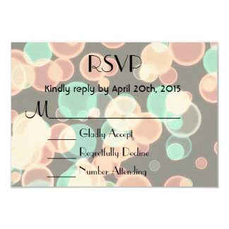 RSVP Multicolored Bubbles on a Black Background Card