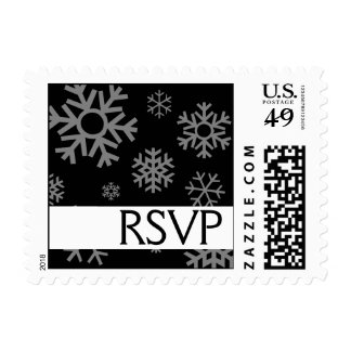 RSVP Multiple Snowflakes Christmas Stamps (Black)