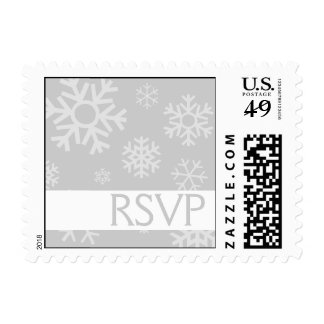 RSVP Multiple Snowflakes Christmas Stamps (Silver)