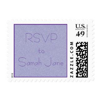 RSVP name stamp lavender/purple