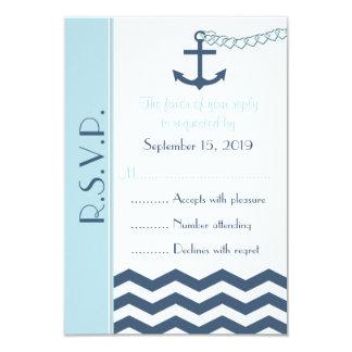 RSVP náutico que casa la tarjeta de la invitación