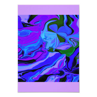 rsvp neon purple and blue art card