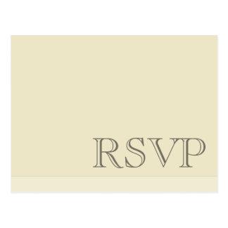 RSVP neutral básico simple mínimo Postal