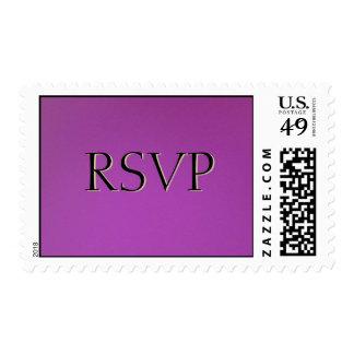 RSVP On Violet Postage Stamps