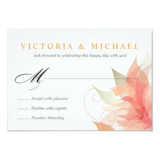 RSVP - Orange Ice White Wedding 2 3.5x5 Paper Invitation Card