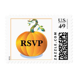 RSVP Otoño boda Calabaza de boda personalizados Stamps