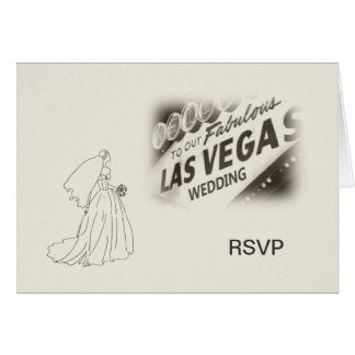 RSVP Our Las Vegas Wedding Card