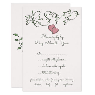 RSVP Our Love is Deeply Rooted Card