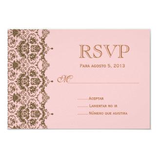 RSVP para boda en español / Wedding Rsvp Card