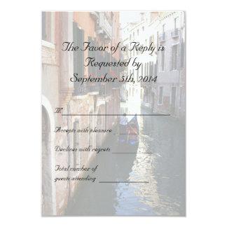 """RSVP para el boda temático veneciano Invitación 3.5"""" X 5"""""""