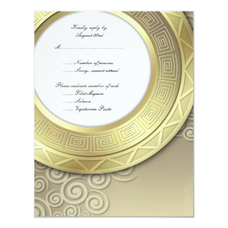 RSVP para la invitación de la recepción/de la cena